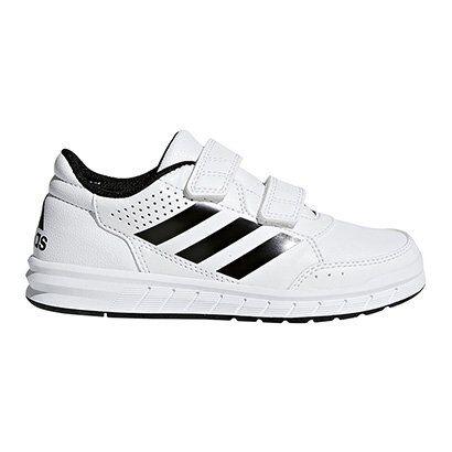 Tênis Infantil Adidas Altasport Cf K Velcro - Masculino-Branco+Preto