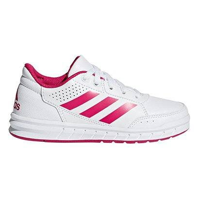 Tênis Infantil Adidas Altasport K  - Masculino-Branco+Pink