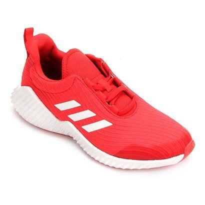 Tênis Infantil Adidas Fortarun 2 K - Unissex-Vermelho