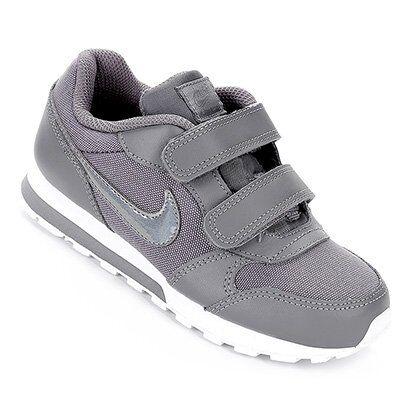 Tênis Infantil Nike Md Runner 2 Feminino - Feminino-Cinza+Branco
