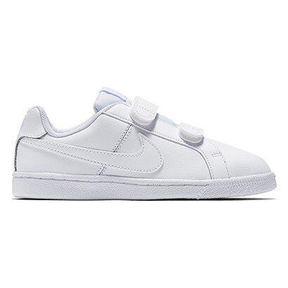 Tênis Nike Court Royale Infantil - Masculino-Branco