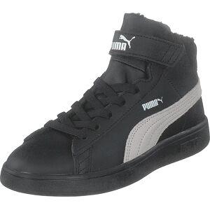 Puma Smash V2 Mid L Fur Ps Puma Black-whisper White, Kengät, Tennarit ja Urheilukengät, Korkeavartiset tennarit, Musta, Lapset, 30