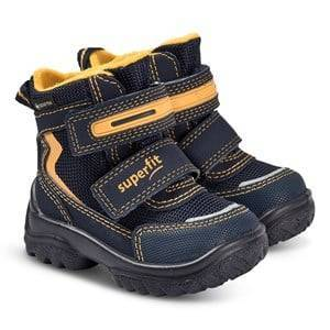 Superfit Snowcat Boots Navy and Yellow Snow boots