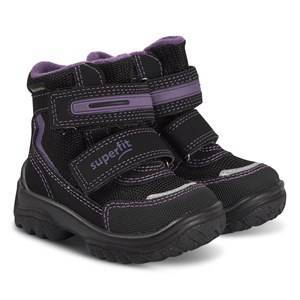 Superfit Snowcat Boots Black and Violet Snow boots