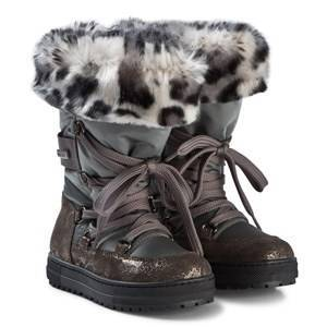 Naturino Avila Tall Faux Fur Snow Boots 28 (UK 10)