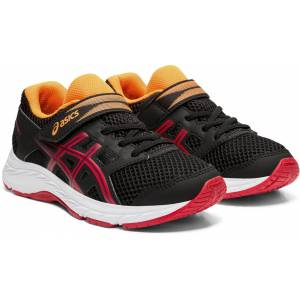 Asics Contend 5 PS Sneaker, Black/Speed Red 27
