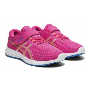 Asics Patriot 11 PS Sneaker, Pink Glo/Sun Coral 33