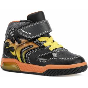 Geox Inek Blinkande Sneaker, Black/Orange 26