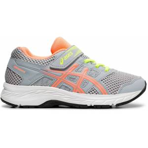 Asics Contend 5 PS Sneaker, Piedmont Grey/Sun Coral 31,5