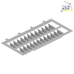 Blænding beskyttelse til LED Spot KS-PIL-SW4, asymmetrisk, grå metallic