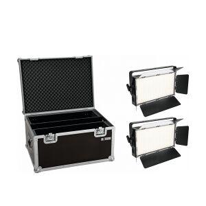 EuroLite Set 2x LED PLL-360 3200K Panel + Case TILBUD NU