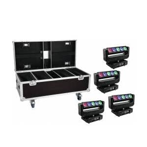 EuroLite Set 4x LED TMH-X Bar 5 Beam + Case TILBUD NU
