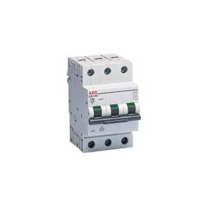 AEG Automatsikringer C 16A, 3 polet C-karakteritik 6kA kortslutningsbrydeevne 230/400V AC, 54 mm bred