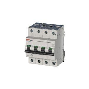 AEG Automatsikringer C 32A, 3 polet + nul C-karakteritik 6kA kortslutningsbrydeevne 230/400V AC, 72 mm bred