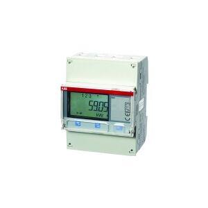 ABB El-måler for direkte måling op til 65Amp. 3P+N, 230-400V MID godkendt Cl. B (klasse 1), udgange for puls/alarm,med M-bus interface
