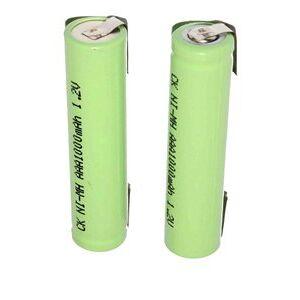 Braun 2x AAA batteri med loddeøer (700 mAh, Genopladelig)