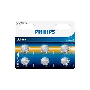Philips CR2032 batteri 3V (Lithium) 6-Pack