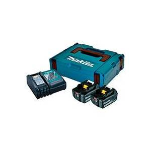 Makita Batterisæt 2XBL1840B+DC18RC 2.stk (18V) 4,0Ah Sort