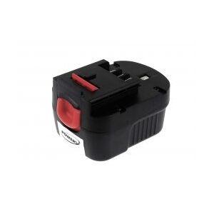 Black & Decker Batteri til Black & Decker Typ A1712 2000mAh