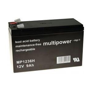 APC Powery Blybatteri MP1236H til UPS APC Back-UPS BH500INET 9Ah 12V (Erstatter også 7,2Ah/7Ah)