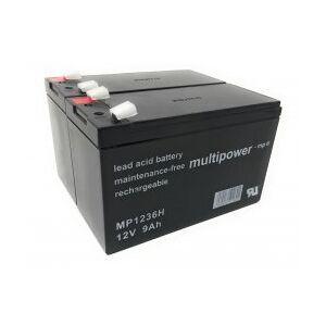APC Powery Blybatteri MP1236H kompatibel med UPS APC RBC48 9Ah 12V (Erstatter også 7,2Ah/7Ah)