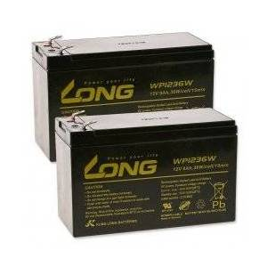 APC KungLong Blygel-batteri kompatibel med UPS APC RBC 109 9Ah 12V (erstatter også 7,2Ah / 7Ah)