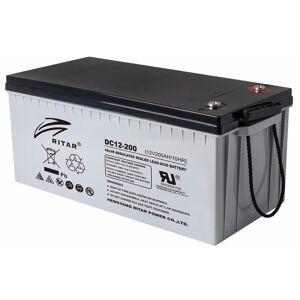 12V 200Ah (290) AGM Batteri for Backup, Start, Forbruk, Solcelle
