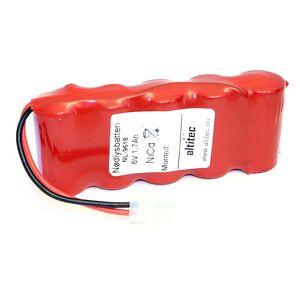 Eltek 6,0v 1,8Ah Eltek nødlysbatteripakke m/ ledning og Molex Minifit 2-pol