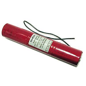 3,6v 2,5Ah nødlysbatteripakke m/ Ledning u/kontakt i stav