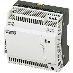 Phoenix Contact Phoenix kontakt trinn-PS/1AC/24DC/4.2 rail montert PSU (DIN) 24 V DC 4,4 A 100 W 1 x