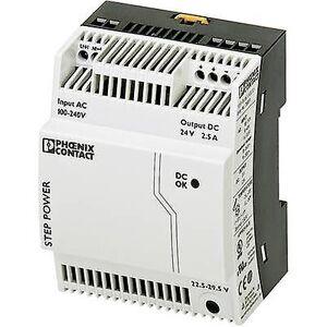 Phoenix Contact Phoenix kontakt trinn-PS/1AC/24DC/2.5 Rail montert PSU (DIN) 24 V DC 2,75 A 60 W 1 x