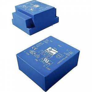 Block Blokk FL 10/8 PCB monteringstransformator 2 x 115 V 2 x 8 V AC 10 VA 625 mA