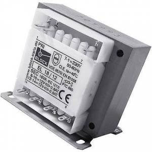Block Blokk EL 50/9 Kontrolltransformator, isolasjon transformator, sikkerhet transformator 1 x 230 V 2 x 9 V AC 50 VA 2,78 A