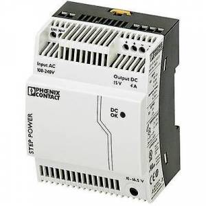 Phoenix Contact Phoenix kontakt trinn-PS/1AC/15DC/4 rail montert PSU (DIN) 15 V DC 4 A 60 W 1 x