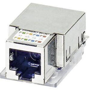 Phoenix Contact Phoenix kontakt 1652936 VS-08-BU-RJ45-5-F/PK RJ45-hunn sett IP20 CAT5e PATCH-kabel. 8 RJ45-kontakt, horisontal montering