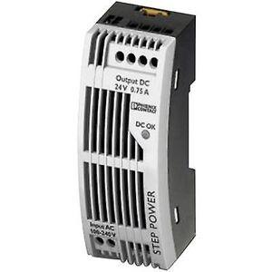 Phoenix Contact Phoenix kontakt trinn-PS/1AC/24DC/0,75/FL rail montert PSU (DIN) 24 V DC 0,83 A 18 W 1 x