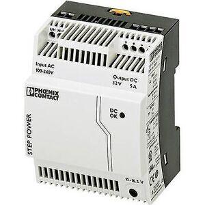 Phoenix Contact Phoenix kontakt trinn-PS/1AC/12DC/5 Rail montert PSU (DIN) 12 V DC 5 A 60 W 1 x