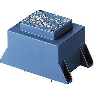 Block Blokk VCM 50/2/6 PCB monteringstransformator 1 x 230 V 2 x 6 V AC 50 VA 4.16 A
