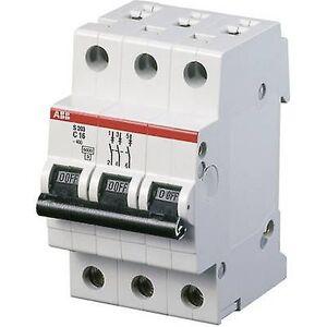 ABB 2CDS253001R0204 strømbryter 3-pin 20 A