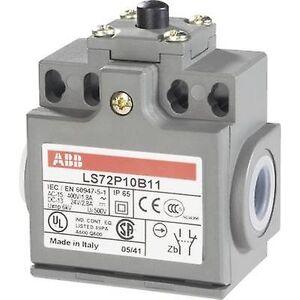 ABB LS72P10B11 grense bryteren 400 V AC 1.8 A Tappet kortvarig IP65 1 eller flere PCer