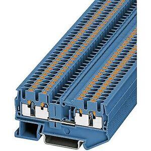 Phoenix Contact Phoenix kontakt PT 2,5-QUATTRO BU 3209581 kontinuitet antall pinner: 4 0,14 mm² 2, 5 mm² blå 1 eller flere PCer