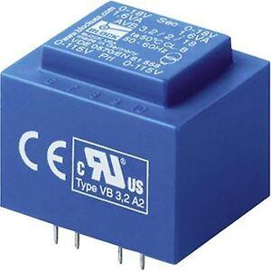 Block Blokk AVB 3,2/2/6 PCB monteringstransformator 2 x 115 V 2 x 6 V AC 3,20 VA 266 mA