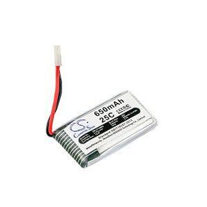 Hubsan X4 H107L batteri (650 mAh, Sølv)