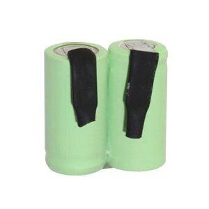 Cylinder Cell 2/3 AA batteri i rekken, med loddetinnsfaner (600 mAh, Oppladbart)
