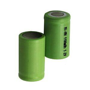Braun 2x 2/3A batteri (1100 mAh, Oppladbart)