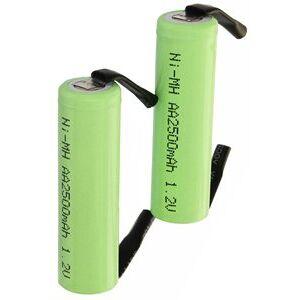 Braun 2x AA batteri med loddetinnsfaner (2500 mAh, Oppladbart)