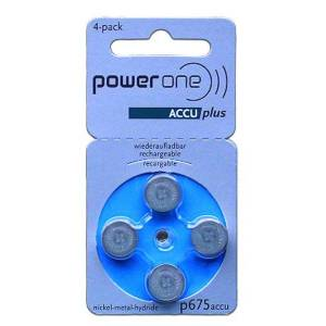 Advance Powerone 4x PR44 Knappcelle (Blå, 70 mAh)