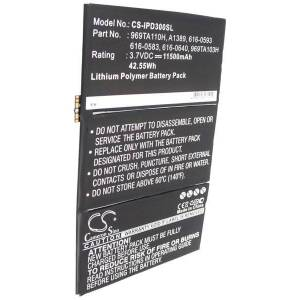 Apple Batteri (11500 mAh) passende for Apple iPad 4 (32GB) Wi-Fi + Cellular