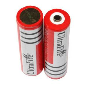 Philips UltraFire 2x 18650 batteri (3000 mAh, Oppladbart)