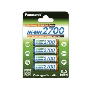 Panasonic High Capacity Ni-MH Oppladbare batterier AA 4-pack